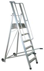 scala a castello in allumino - a norma e con ampia pedana da lavoro